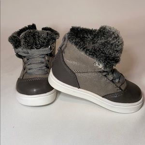Circo Shoes - Circo Girls toddles booties, Grey, size 5